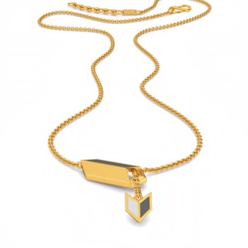 Sharp Shades Gold Necklaces