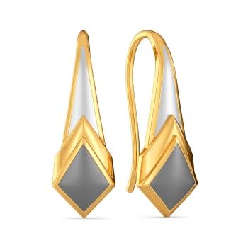 Monday Greys Gold Earrings