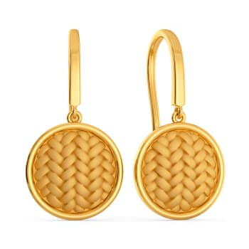 The Twill Drill Gold Earrings