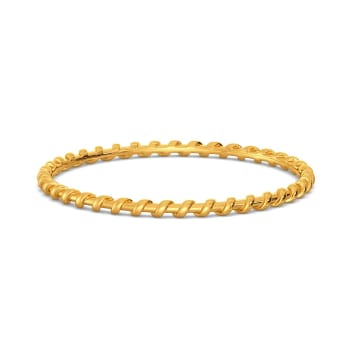 The Leno Weave Gold Bangles
