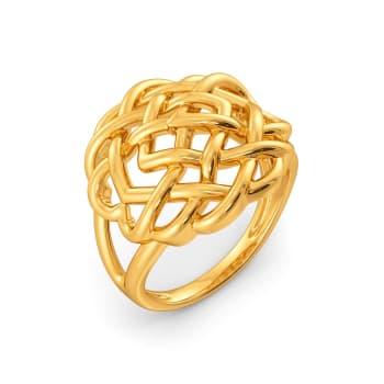 The Yarn Twist Gold Rings