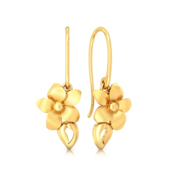 Bloom in Retro Gold Earrings
