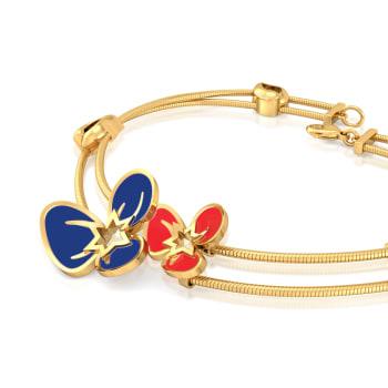 Flamboyant Florals Gold Bracelets