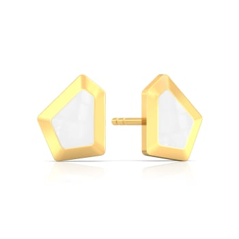 White Water Waltz Gold Earrings