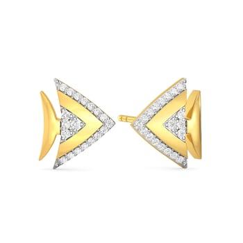 Fin and Fine Diamond Earrings