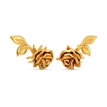 Rosa Sericea Gold Earrings