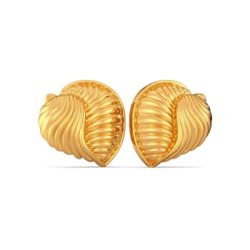 The Conch Shells Gold Earrings