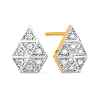 Plaid Play Diamond Earrings