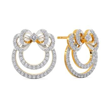 Bow Blends Diamond Earrings