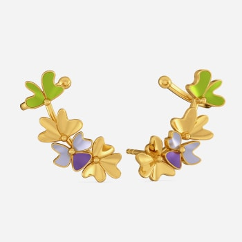 Saga de Corsage Gold Earrings