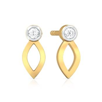 Petal to the Metal Diamond Earrings