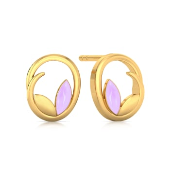 Lavender Out Loud Gold Earrings
