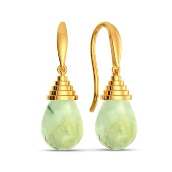 Green Is In Gemstone Earrings