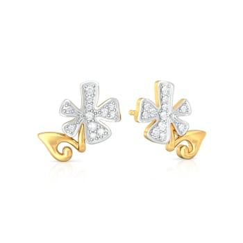 Dainty Drama  Diamond Earrings