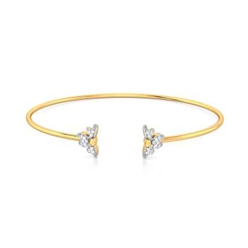 Flower Devour  Diamond Bangles