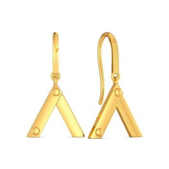 Trek Check Gold Earrings