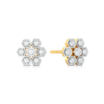 Dots and Diamonds Diamond Earrings