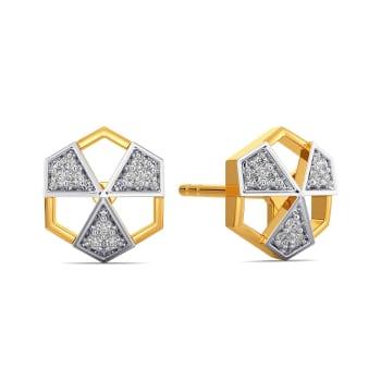 Power Punch Diamond Earrings