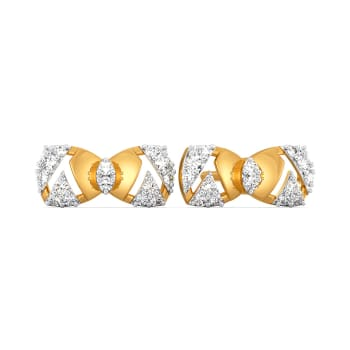 Fiery Bows Diamond Earrings