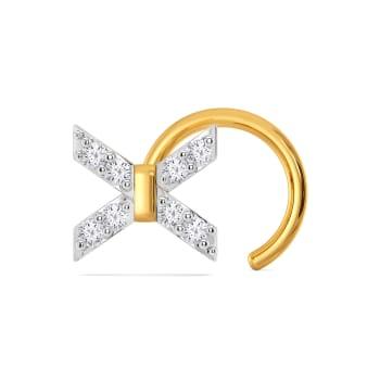 Bridge A Bow Diamond Nose Pins