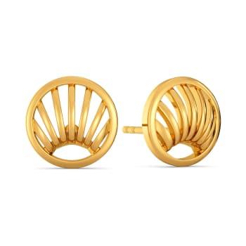 Raffia Response Gold Earrings