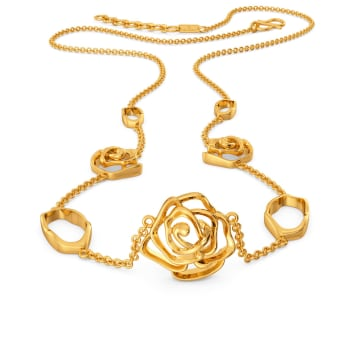 Gothic Roses Gold Necklaces