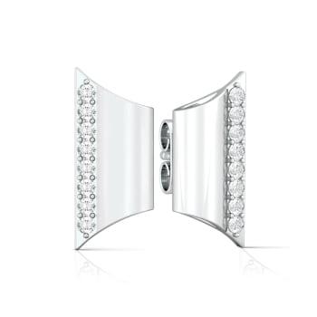 Tubular flarese Diamond Earrings