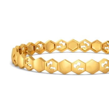 Scarf It Up Gold Bangles