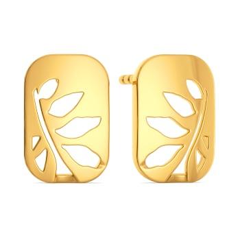 Silky Slinky Gold Earrings