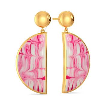 Tie & Dye Tease Gold Earrings