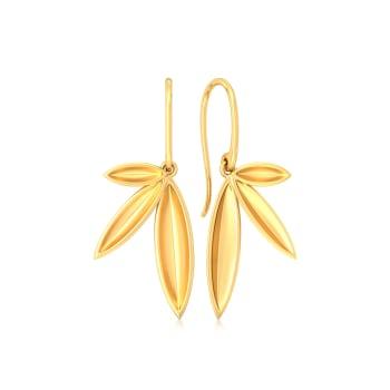 Fun & Foliage Gold Earrings