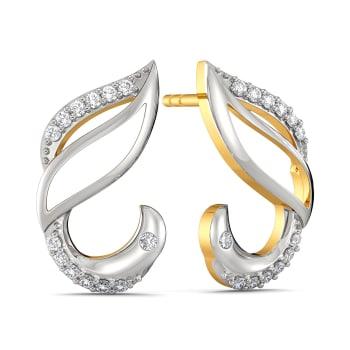 White Winged Diamond Earrings
