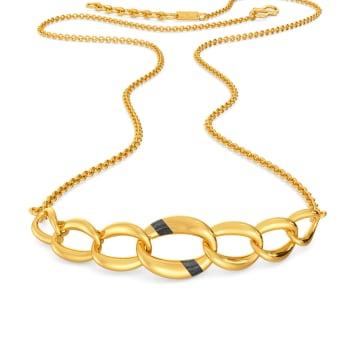 Black N Gold Gold Necklaces