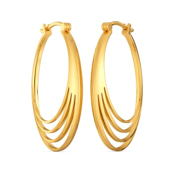 Chic Play Gold Earrings