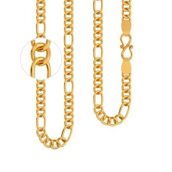 22kt Penta Figaro Chain Gold Chains