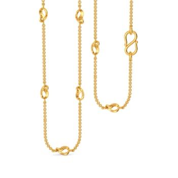 Loop Entwined Gold Chains