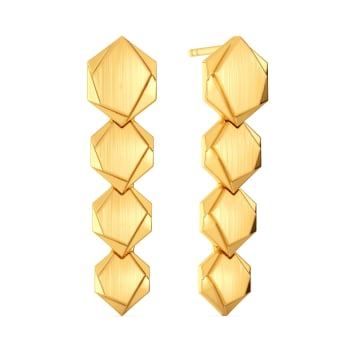 Hexa Vibes Gold Earrings