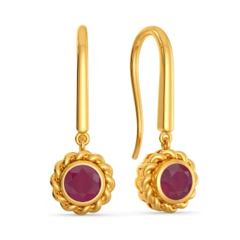 Garnet Gaze Gemstone Earrings