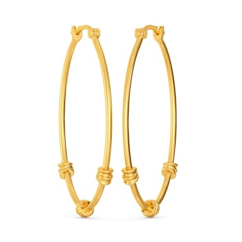 Trio Pacts Gold Earrings