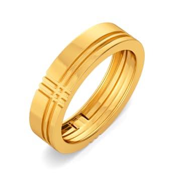 Cool Checks Gold Rings