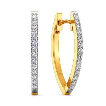 Minimal Magic Diamond Earrings