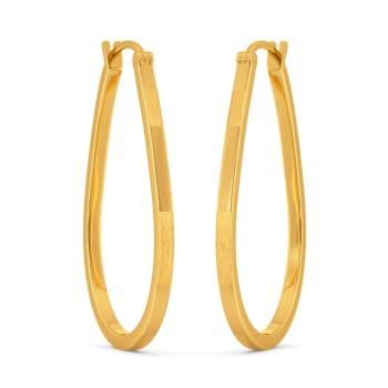 Hooped Away Gold Earrings