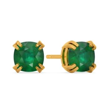 Green Grande Gemstone Earrings