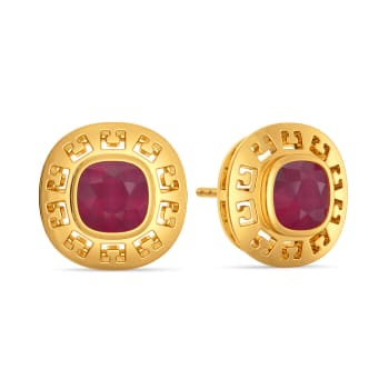 Ruddy Ruby Gemstone Earrings