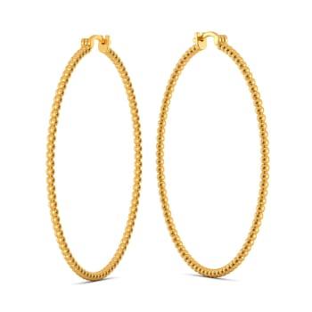 Dab Tab Gold Earrings