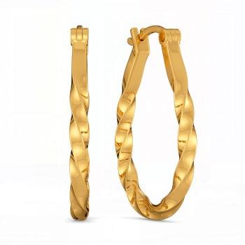 Twist It Up Gold Earrings