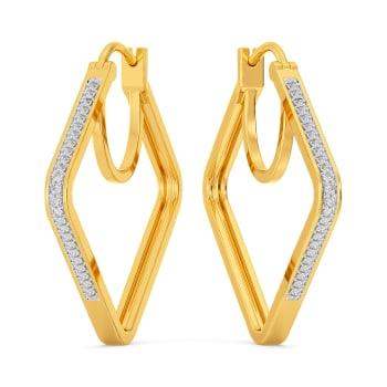 Loop De Hoop Diamond Earrings