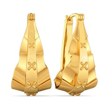 Victorian Frills Gold Earrings