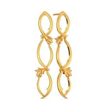 Climber Vines Gold Earrings