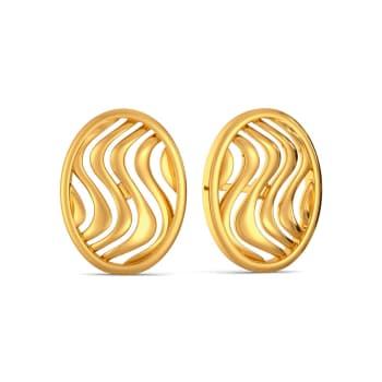 Frill Twill Gold Earrings